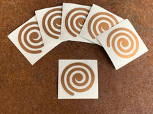 Load image into Gallery viewer, FREE - Deluxe Vinyl Transfer Decal - Copper Spiral