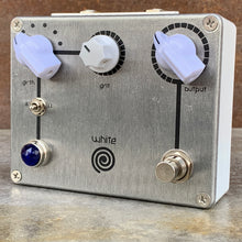 Load image into Gallery viewer, Germanium clipping diodes added to the White Spiral Boost guitar pedal by Tom Cram
