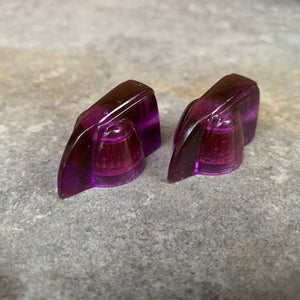 Deco-Wedge Knob with Set Screw - Purple