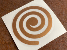 Load image into Gallery viewer, Deluxe Vinyl Transfer Decal - Copper Spiral