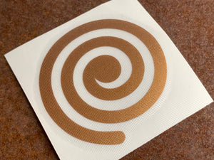 Deluxe Vinyl Transfer Decal - Copper Spiral