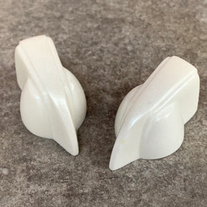 Deco-Wedge Knob with Set Screw - White Shimmer