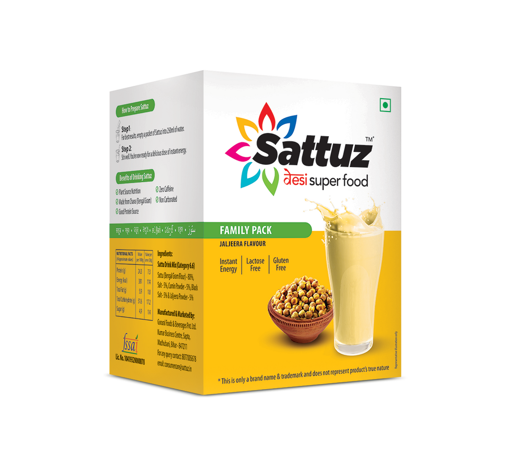Sattu based desi superfood Sattuz in jaljeera flavor
