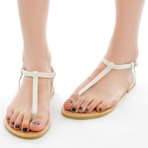 Women Pu Sandals Casual Flip Flops Adjustable Buckle Shoes