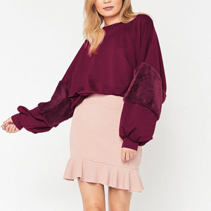 New Solid Color Plush Loose Short Hoodies