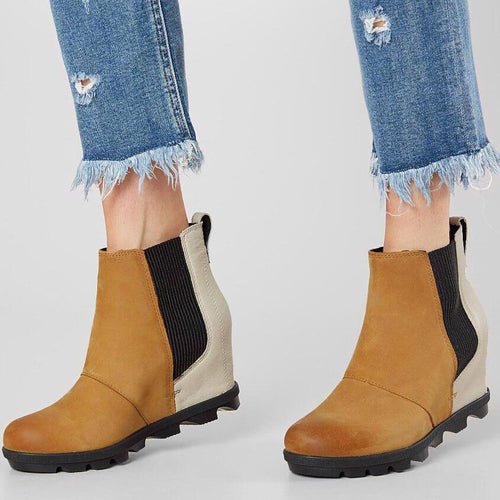 Women Stylish Middle Height Heel Boots