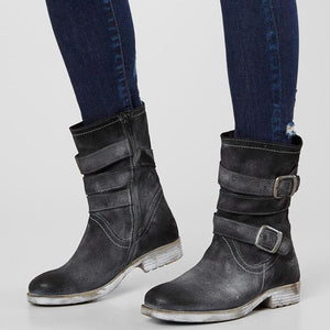 Women Middle Height Heel Warming Boots