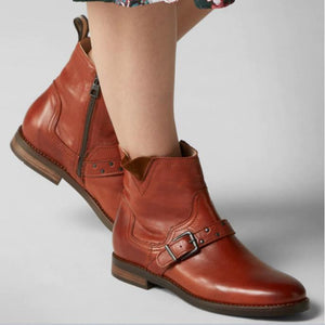 Women Stylish Leisure Low Heel Short Boots