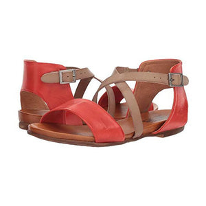 Flat Low Heel Large Size Contrast Color Sandals