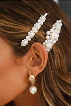 Load image into Gallery viewer, Elegant Temperament Handmade Pearl Rhinestone Hairpin Clip Word Card