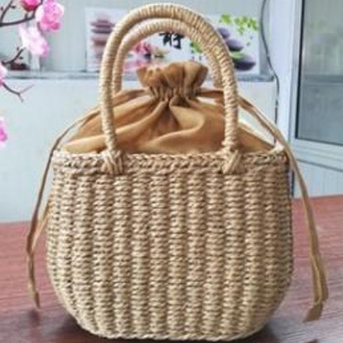Handbag And Shoulder Woven Fashion Beach Bag