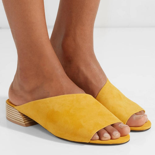 Simple And Versatile Low-Heeled Sandals And Slippers
