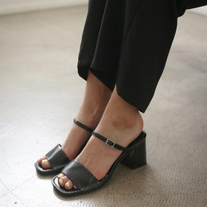 Fashion rough with open toe wild sandals and slippers