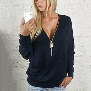 V Neck  Belt Loops  Plain Casual Sweatshirt