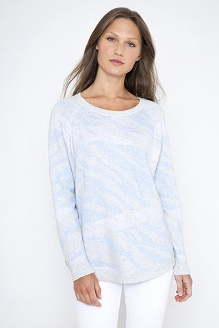 Kinross Reversible Wave Sweatshirt Cloud