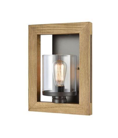 CLA Meti Warm Chestnut Wood Wall Lamp