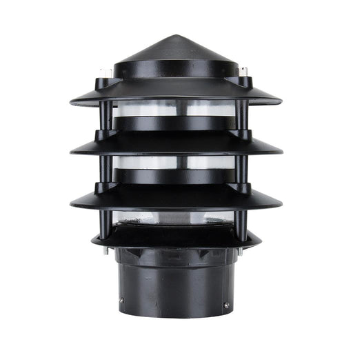Domus BL-100 Three Tier Bollard Head E27 Garden Light Powder Coated Finish