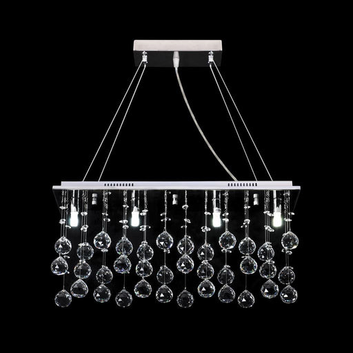 STARLIGHT-P80 CRYSTAL LED PENDANT - LENGTH 800MM / WHITE LED Domus