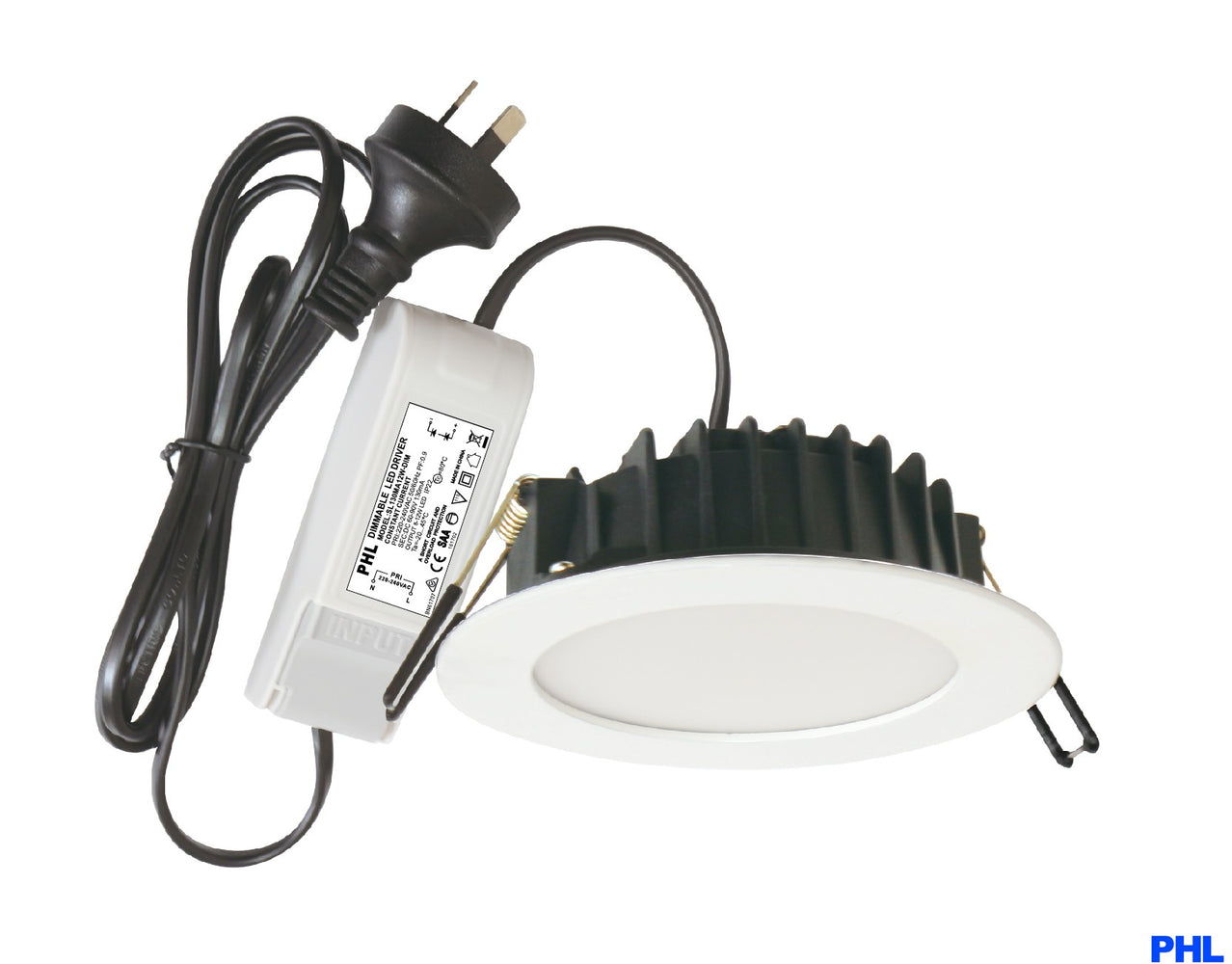 PHL902 WH/TC Channel Tri-colour LED Downlight