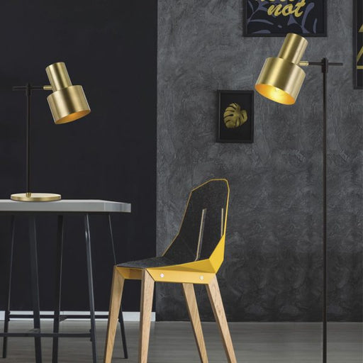 Telbix Croset Gold Metal Floor Lamp