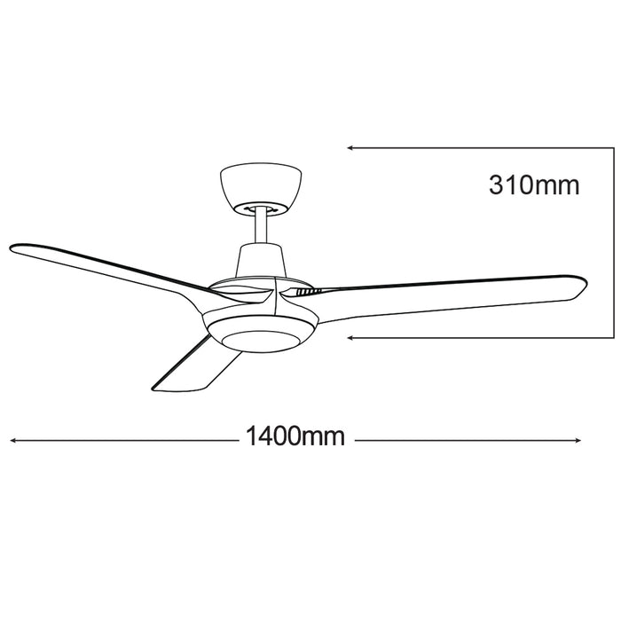 Martec Cruise 56″ Ceiling Fan With 15W CCT LED Light