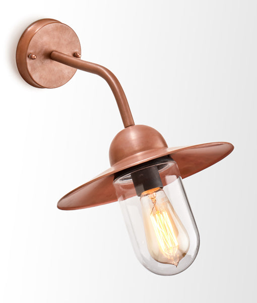 CLA Deksel: Aged Copper  exterior wall lights