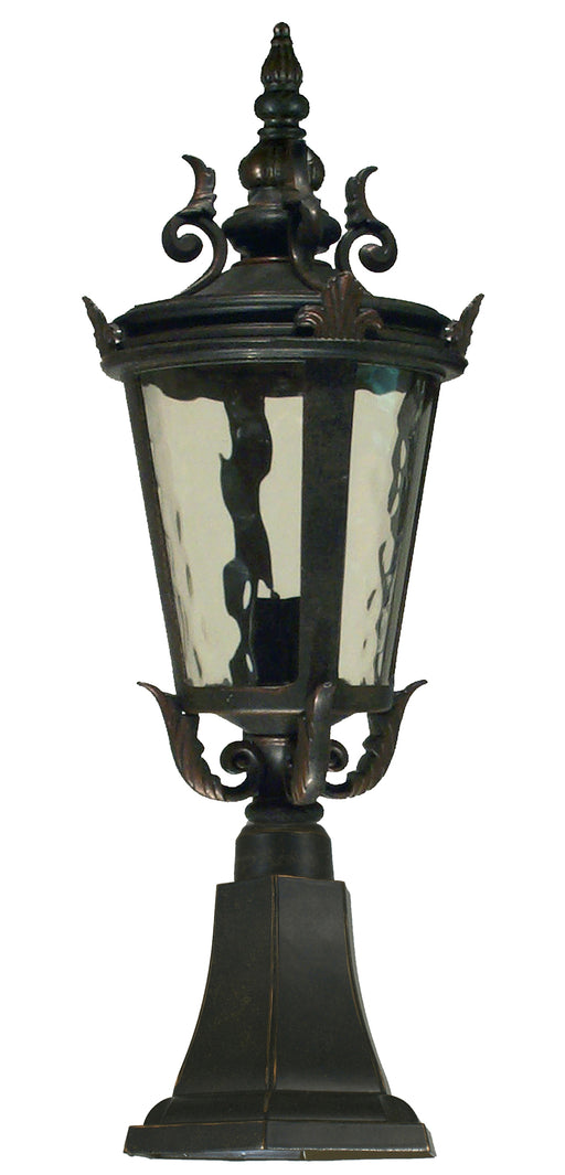 Lighting Inspiration Albany Ext Pillar Mount Antique Bronze