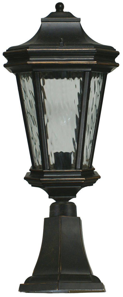 Lighting Inspiration Tilburn Ext. Large Pillar Mount Antique Bronze