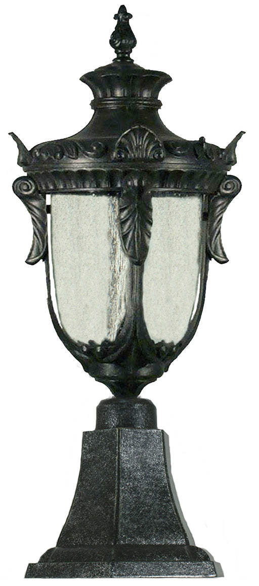 Lighting Inspiration Wellington Ext Pillar Mount Antique Black