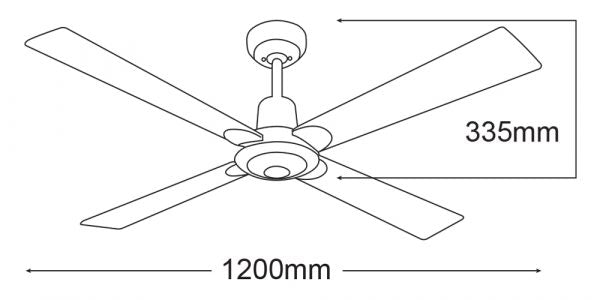 Martec FourSeasons Alpha 48″ Ceiling Fan