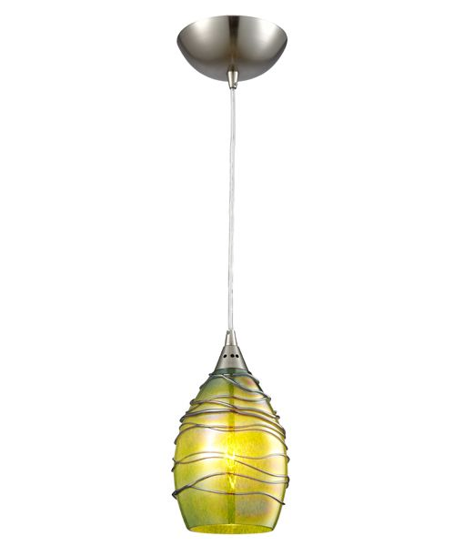CLA GLAZE Glass with Coloured Twist Ellipse (Hand blown glass) pendant lights