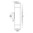 Havit HV1089 Highlite Titanium Aluminium Up & Down Wall Pillar Lights