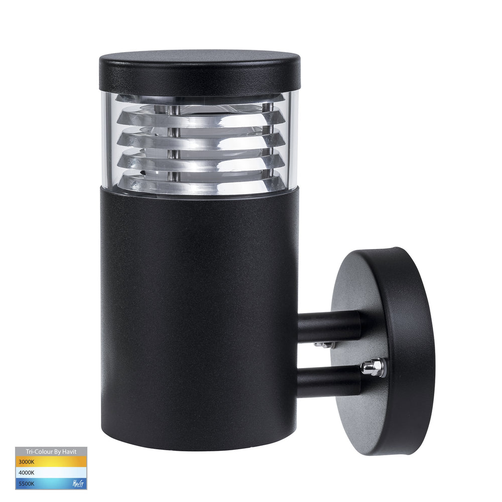 HV3622T-BLK - Mini Louvre 316 Stainless Steel Black Wall Light