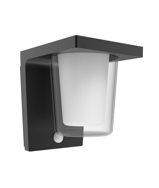 CLA Khepri Exterior LED Sensor Surface Mounted Cylinder Wall Light
