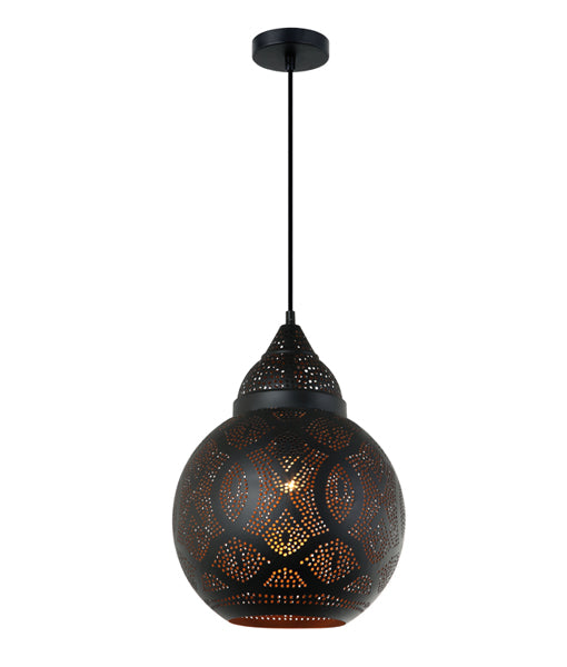 CLA MARRAKESH Black Shade with Gold Interior Pendant Lights