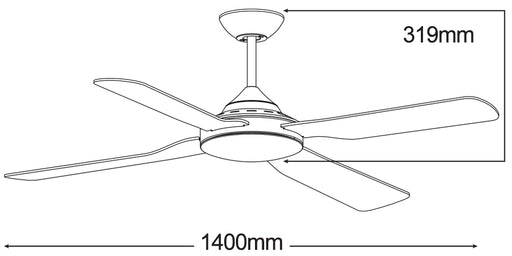Martec Liberty 56″ Ceiling Fan
