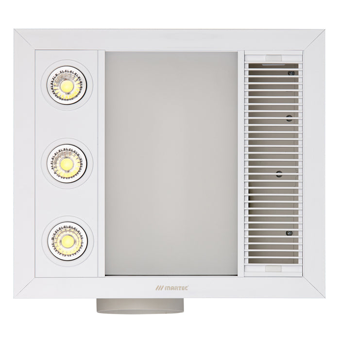 Martec Linear Mini 3 in 1 Bathroom Heater With Exhaust Fan And LED Lights
