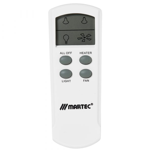 Martec Bathroom Exhaust Light and Heat LCD Remote Control Kit