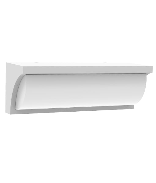 CLA REPISA Exterior LED Surface Mounted Curved Wedge Wall Lights