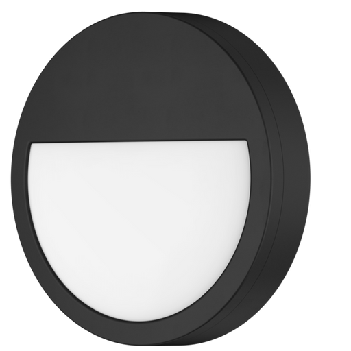 SAL COOPER III SE7192TC/BK 18W Round Profile IP65 LED Wall Light