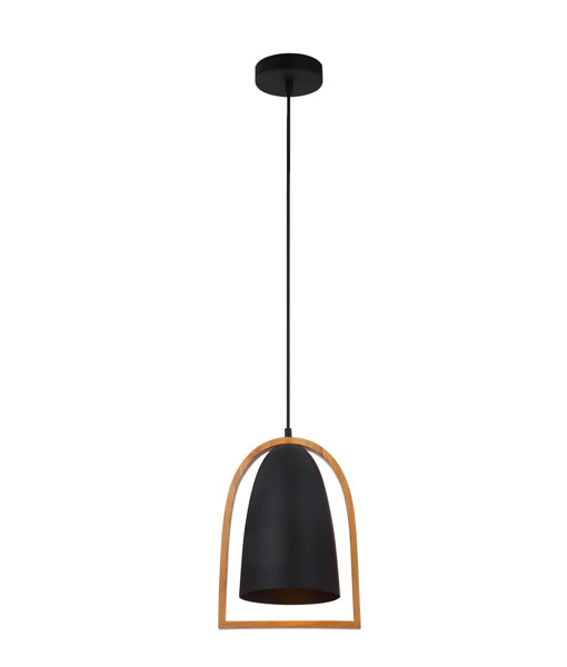CLA Swing Ellipse Wood Frame Pendant Light