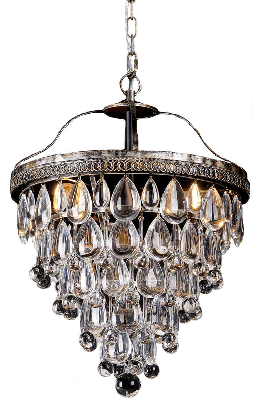 LIGHTING INSPIRATION CASCADE SMALL 35cm BASKET 3LT Chrome