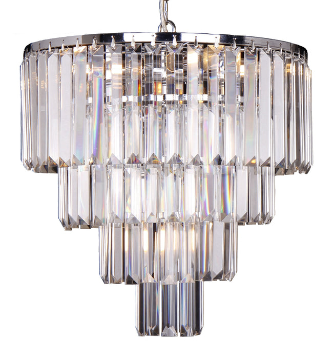 LIGHTING INSPIRATION CELESTIAL 4 TIER PENDANT 5LT Chrome