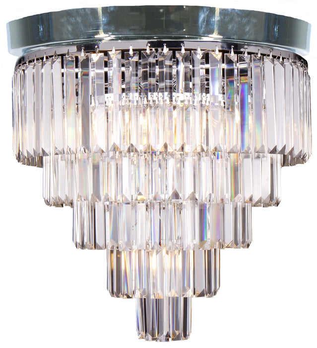 LIGHTING INSPIRATION CELESTIAL 5 TIER FLUSH 6LT Chrome