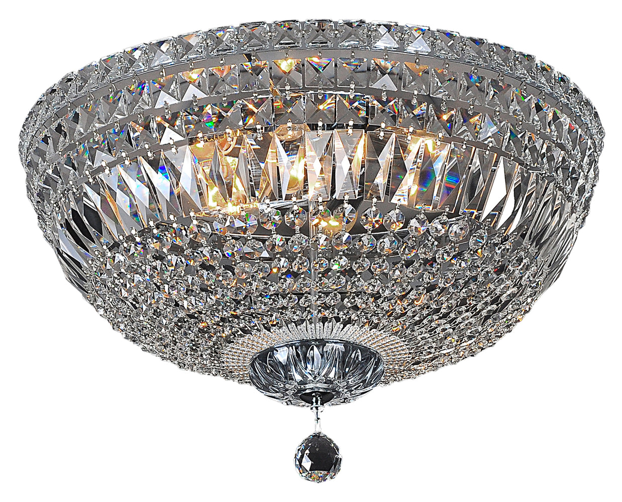 LIGHTING INSPIRATION CLASSIQUE FLUSH 5LT MEDIUM 40cm Chrome