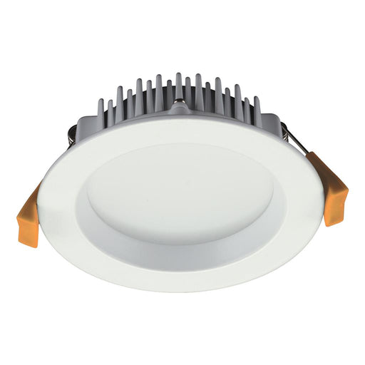 DECO-13 Round 13W Dimmable LED Downlight - White Frame Domus