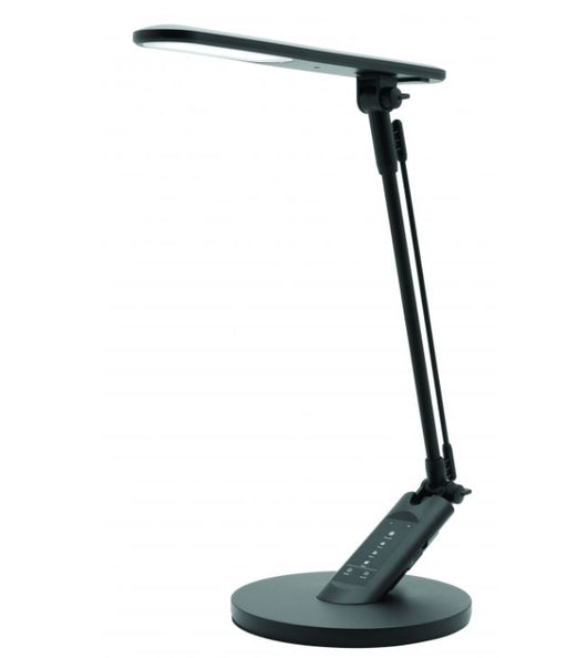 Flick 7w LED Touch Matt Black Desk Lamp with USB Port & Timer Mercator