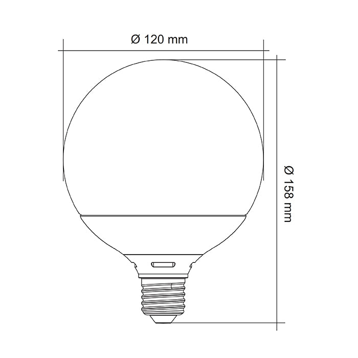 SAL LED OPAL SPHERICAL GLOBE G125 13W
