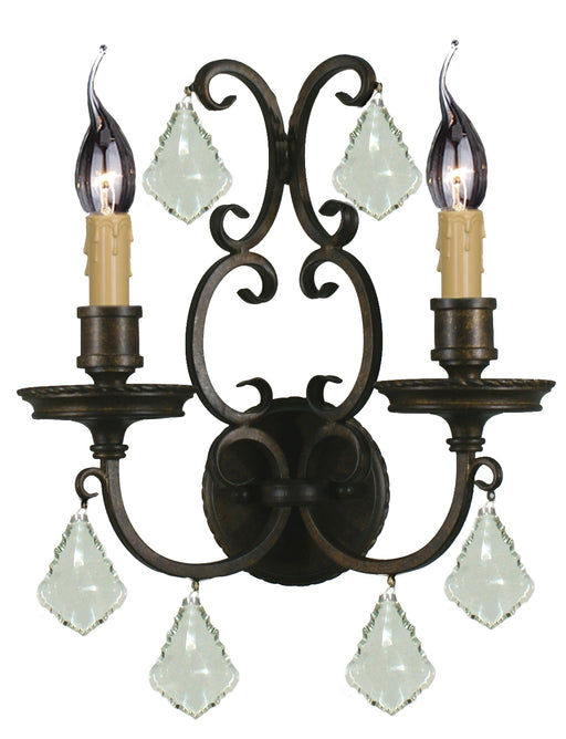LIGHTING INSPIRATION LOUIS 15th 2LT WALL BRACKET Bronze