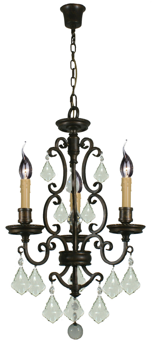 LIGHTING INSPIRATION LOUIS 15th 3LT PENDANT Bronze